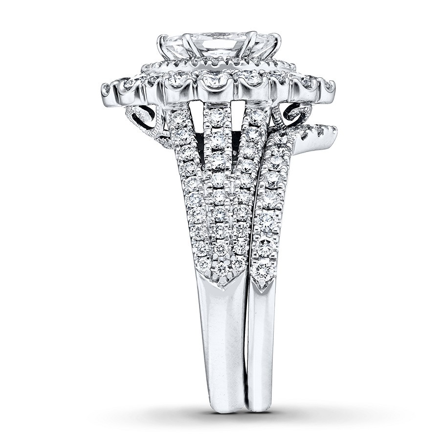 0dad669eb Marquise Cut White Sapphire 925 Sterling Silver Double Halo Bridal Sets