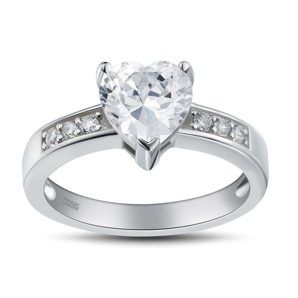 heart cut gemstone 925 sterling silver promise rings for. Black Bedroom Furniture Sets. Home Design Ideas