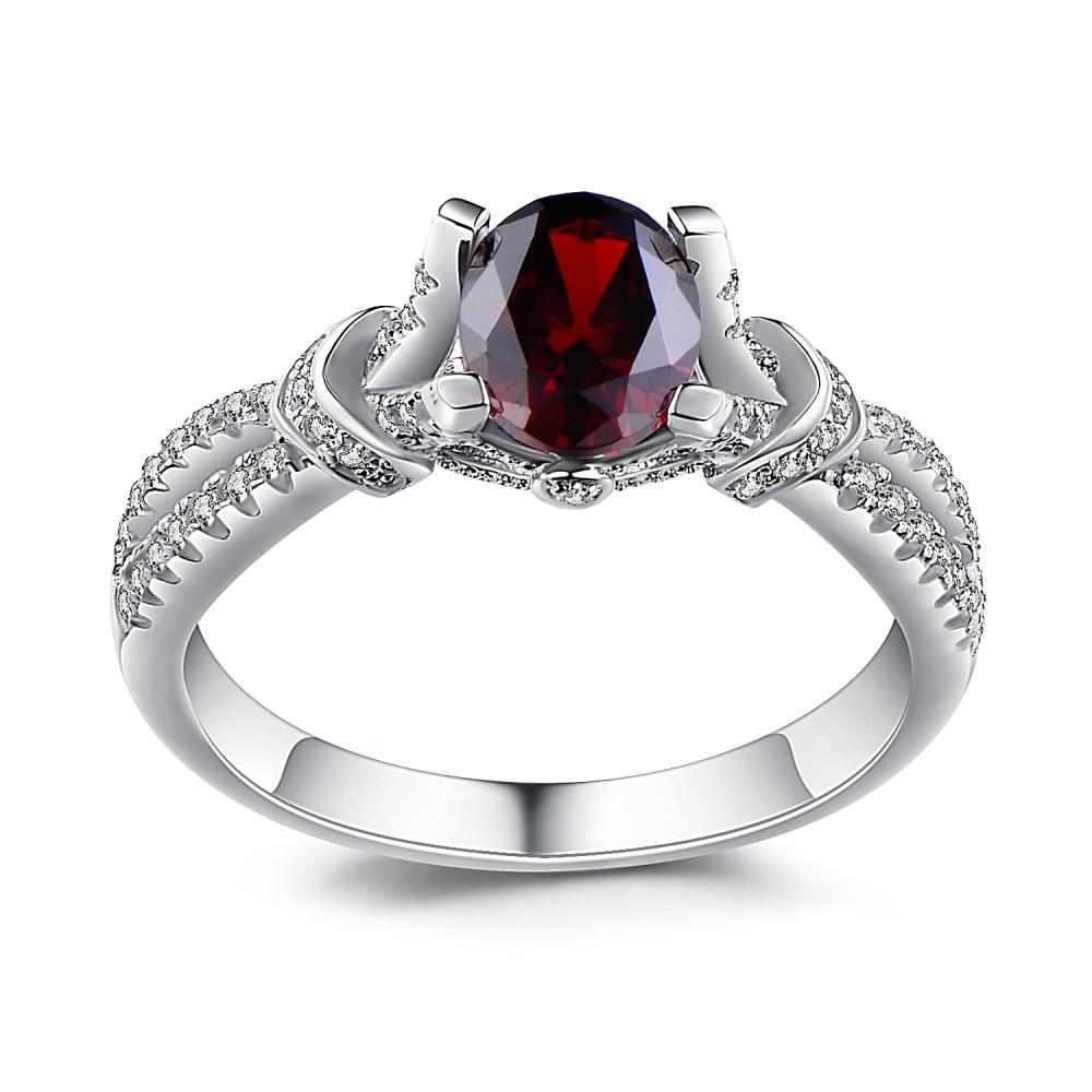 oval cut garnet 925 sterling silver birthstone rings. Black Bedroom Furniture Sets. Home Design Ideas