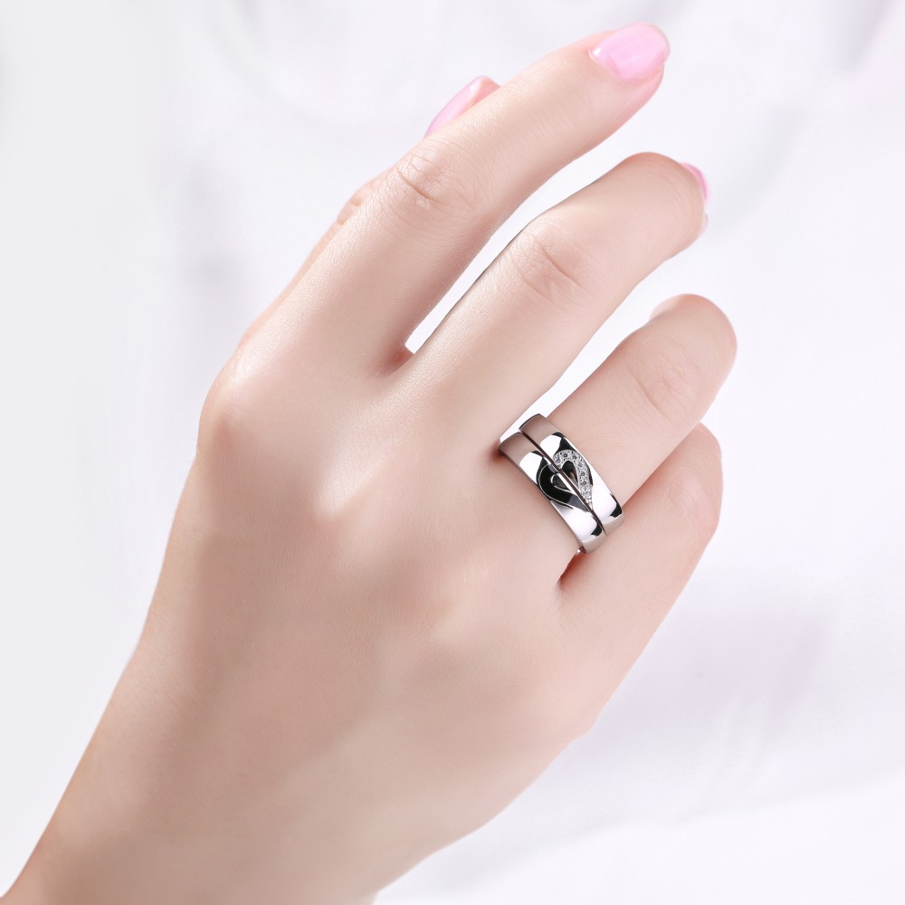 Unique Design 925 Sterling Silver Promise Ring For Couple - Lajerrio ...
