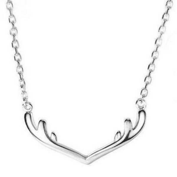 Antler 925 Sterling Silver Unique Necklace