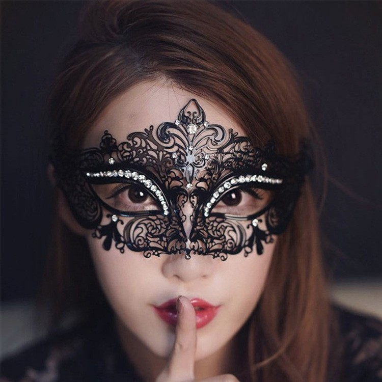 Black Halloween Masquerade Princess Hollow Out Masks