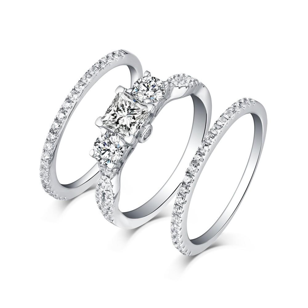 White Shire Wedding Ring Sets Image Of Enta