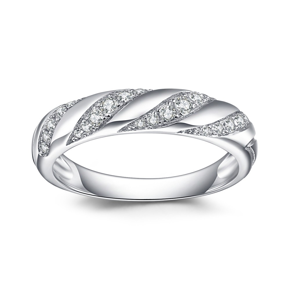 Wedding Bands For Women.Round Cut White Sapphire 925 Sterling Silver Women S Wedding Bands
