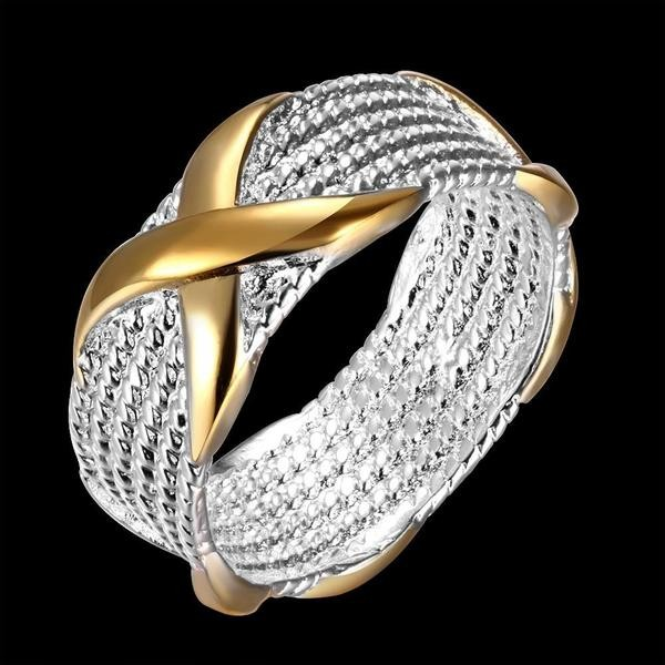 Simple Gold Wrapped Women's Wedding Bands