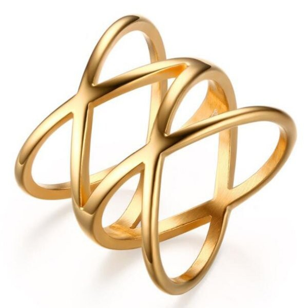 Titanium Lovely Gold Promise Rings For Her