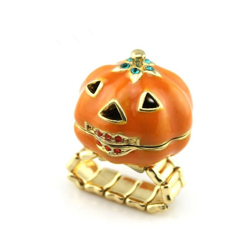 Cute Halloween Pumpkin Ring for Kids