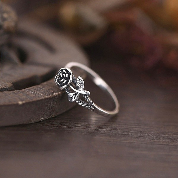 Vintage Rose Ring for Women