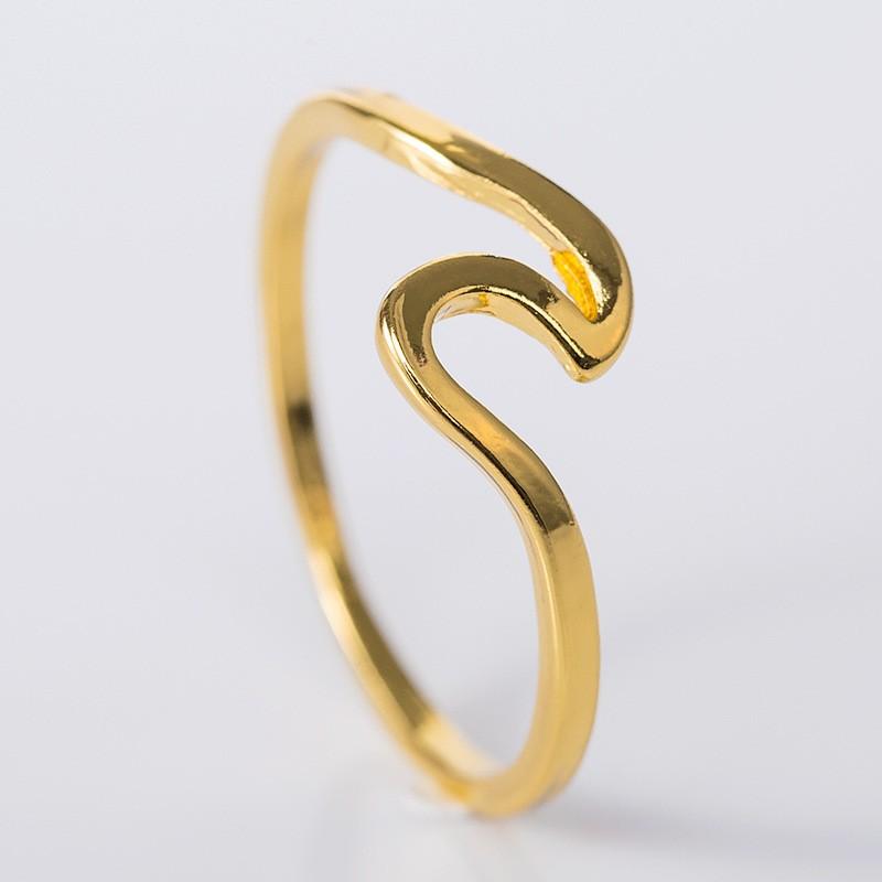 Simple Elegant Gold Promise Band
