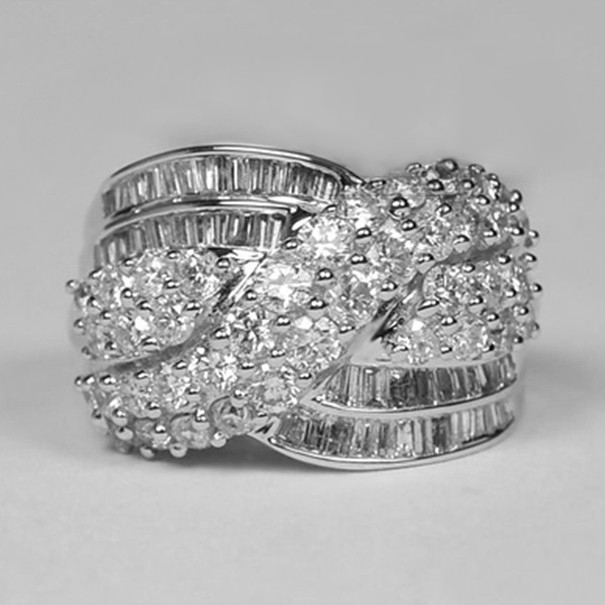 Round Cut White Sapphire Promise Rings