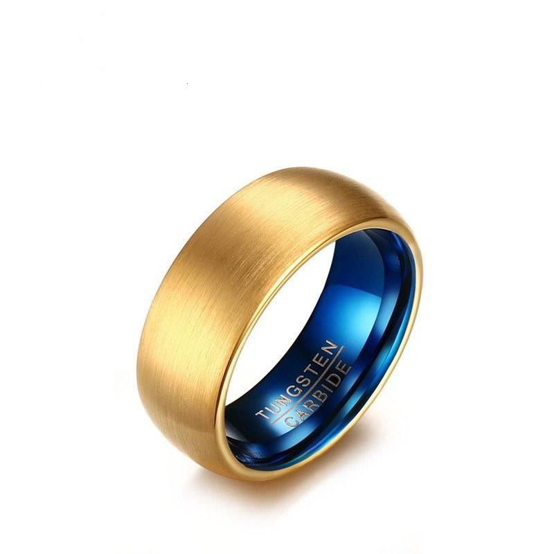 Tungsten Gold & Blue Men's Band
