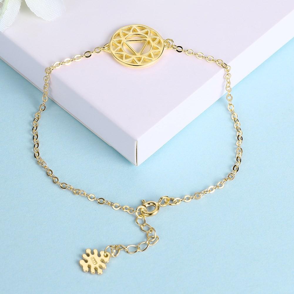 Rose Gold/Silver/Gold Flower Fine Pendant S925 Silver Bracelets