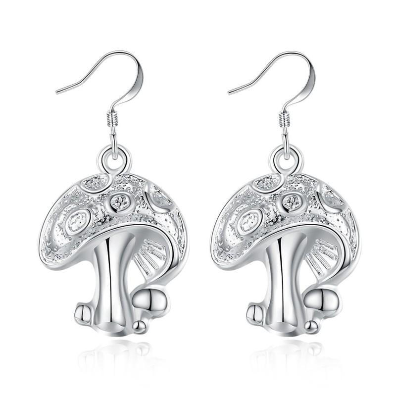 Lovely Mushrooms S925 Silver Earrings