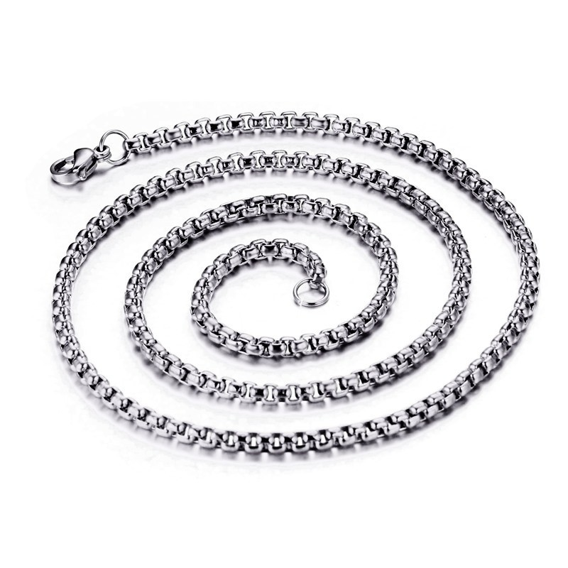 Shining 3mm Silver Titanium Steel Chains