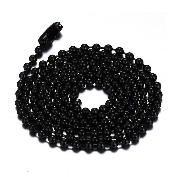 Black Titanium Steel 2.4mm Chains