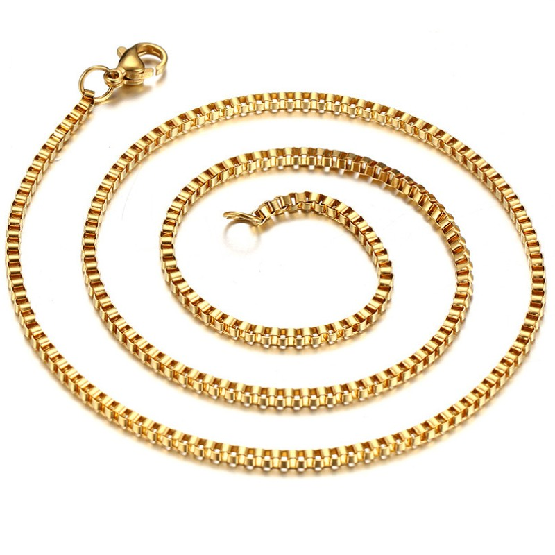 Gold Titanium Steel 2mm Chains
