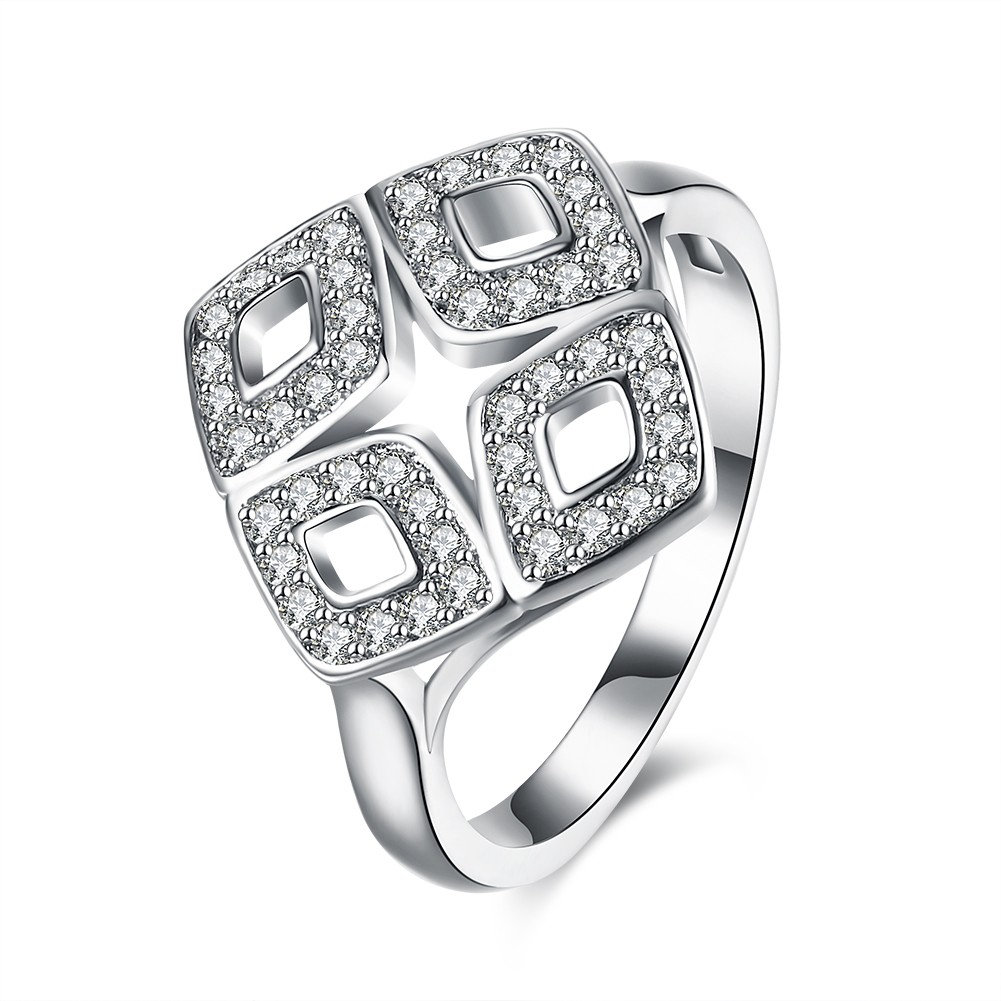 Round Cut White Sapphire Nice S925 Silver Promise Rings