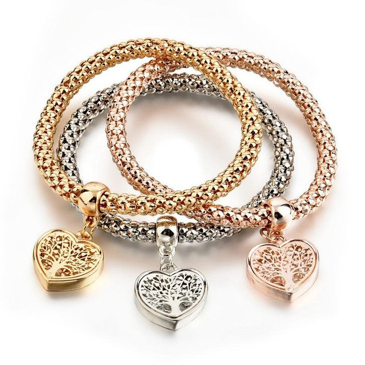 Quot Tree Of Life Quot Heart Edition Charm Bracelet Trio With