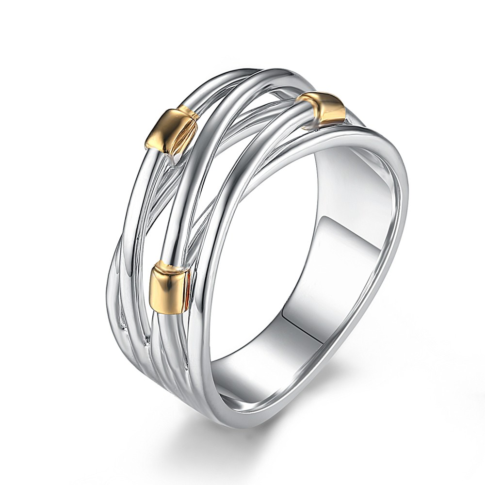 Intertwined Sterling Silver Cocktail Ring
