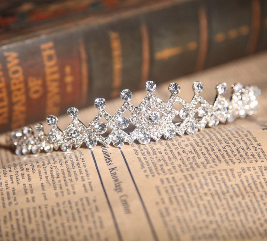 Bright Alloy With Czech Rhinestones Wedding Headpieces