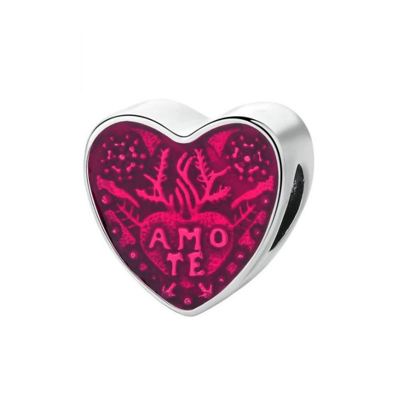 Latin Te Amo Charm Sterling Silver