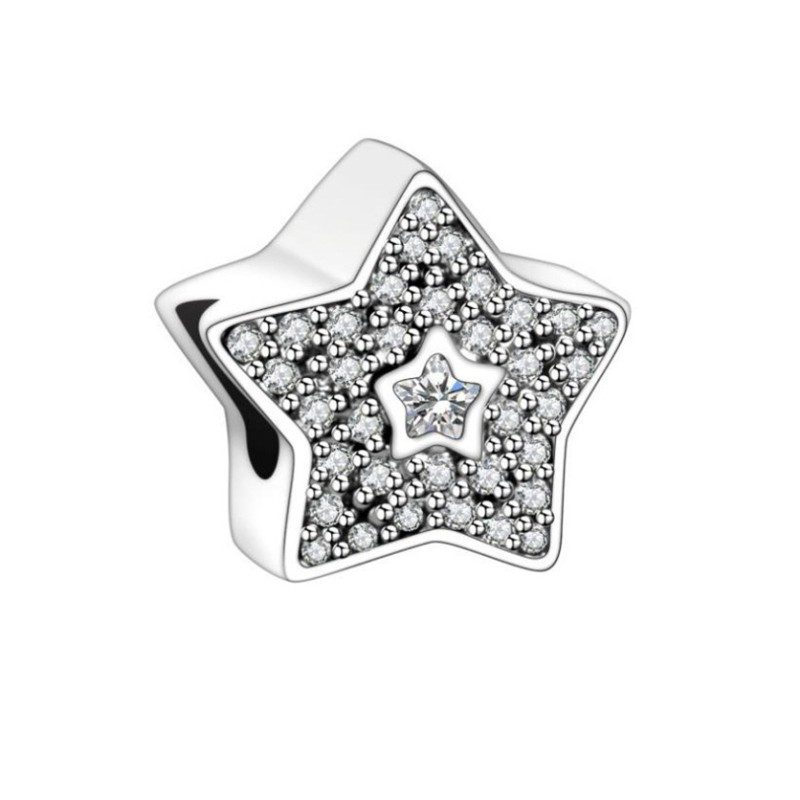 Stars Charm Sterling Silver