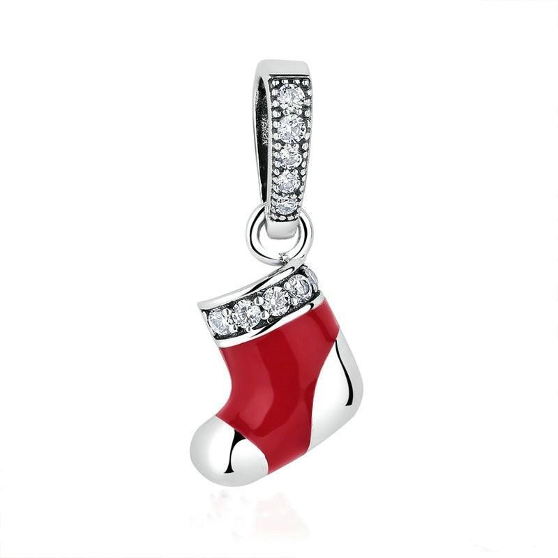 Christmas Shoe Charm Sterling Silver