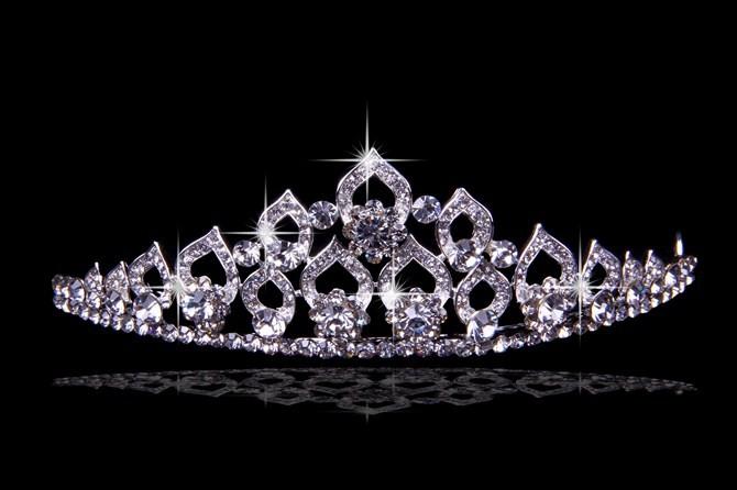 Glamorous Alloy With Czech Rhinestones Wedding Headpieces