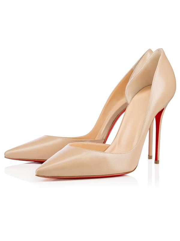 Women's Patent Leather Closed Toe Stiletto Heel High Heels