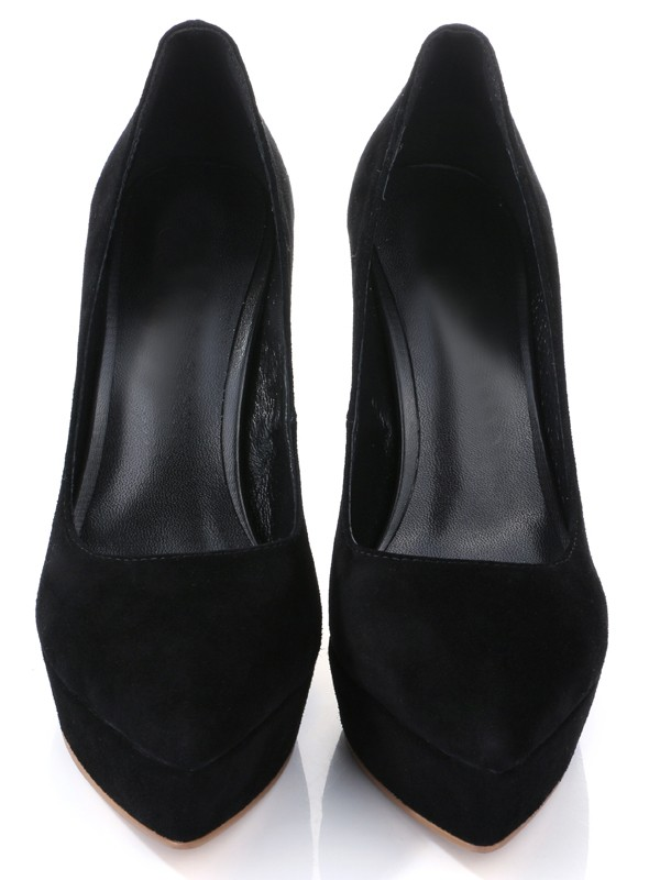 Women's Stiletto Heel Suede Closed Toe High Heels