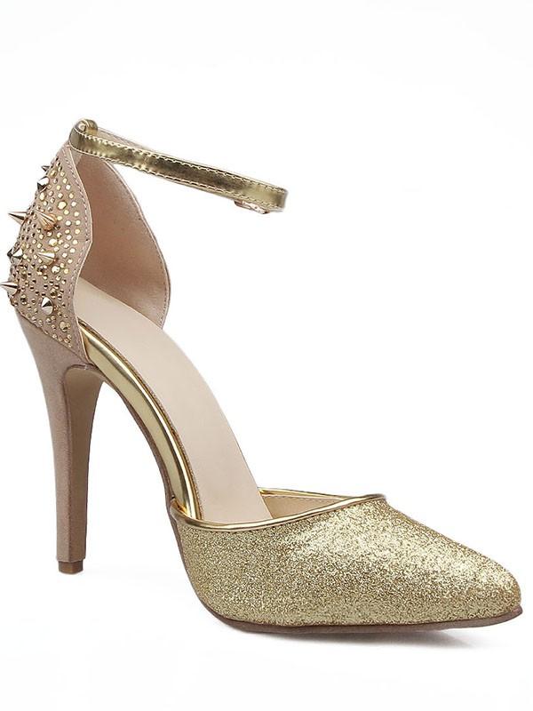 Women's Grete Stiletto Heel Close Toe Mary Jane Sandals Shoes