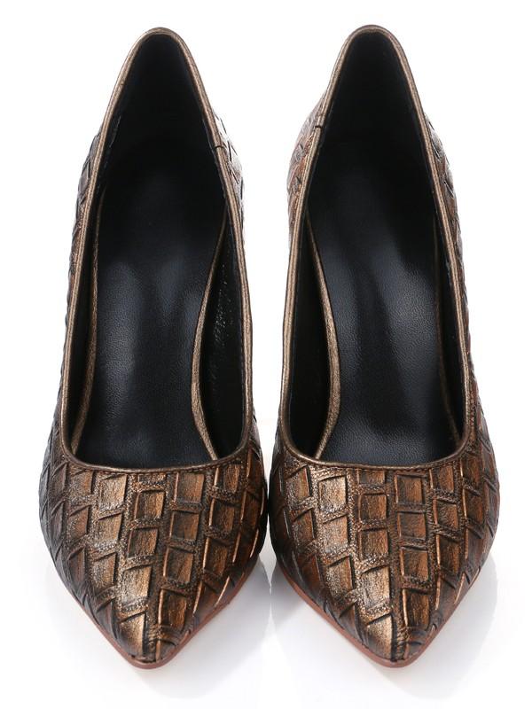 Women's Stiletto Heel Closed Toe PU With Ostrich Pattern High Heels