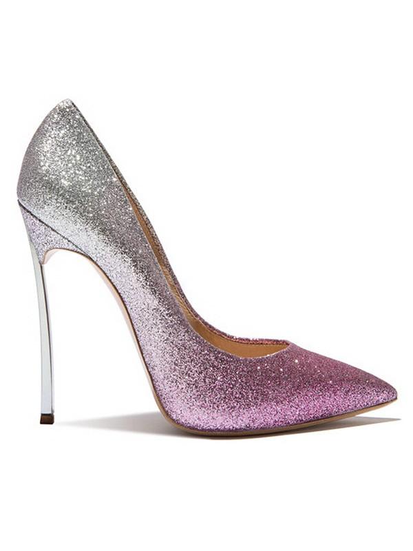 Women's Glitter Closed Toe Stiletto Heel Sandals