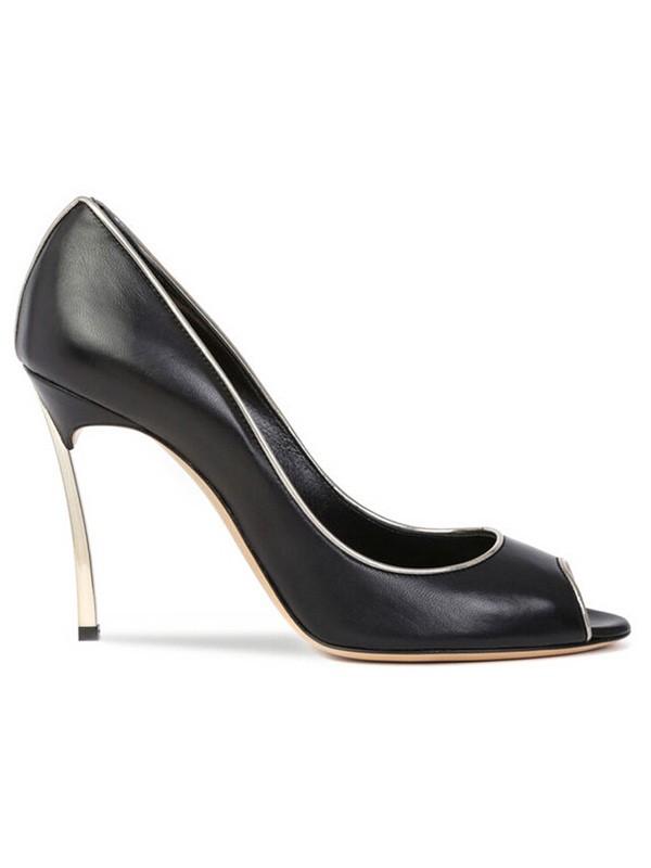Women's Sheepskin Peep Toe Stiletto Heel High Heels