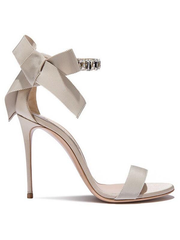 Women's Satin Peep Toe Stiletto Heel Sandals