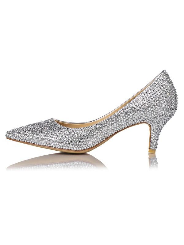 Women's Sheepskin Closed Toe Stiletto Heel High Heels