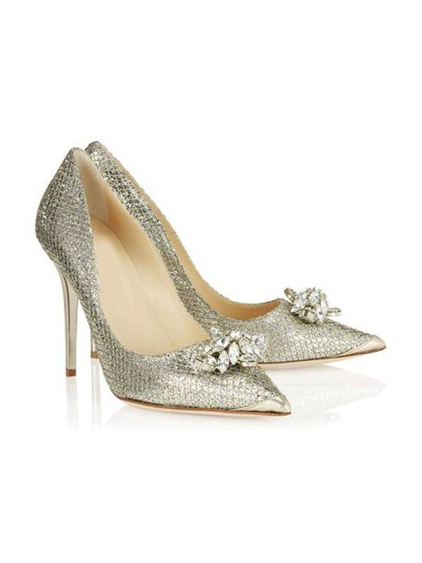 Women's Closed Toe Stiletto Heel With Rhinestone High Heels