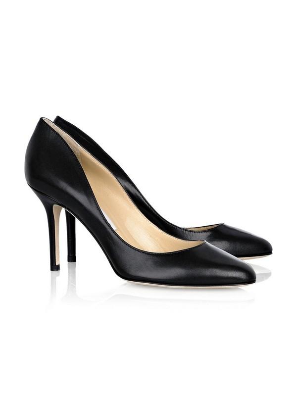 Women's Stiletto Heel Sheepskin Closed Toe Office High Heels