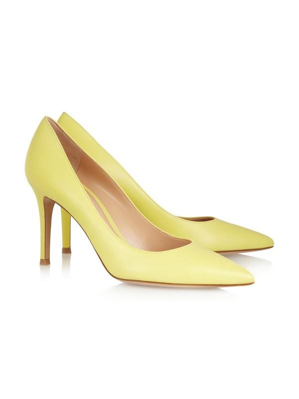 Women's Stiletto Heel Closed Toe Patent Leather Office High Heels