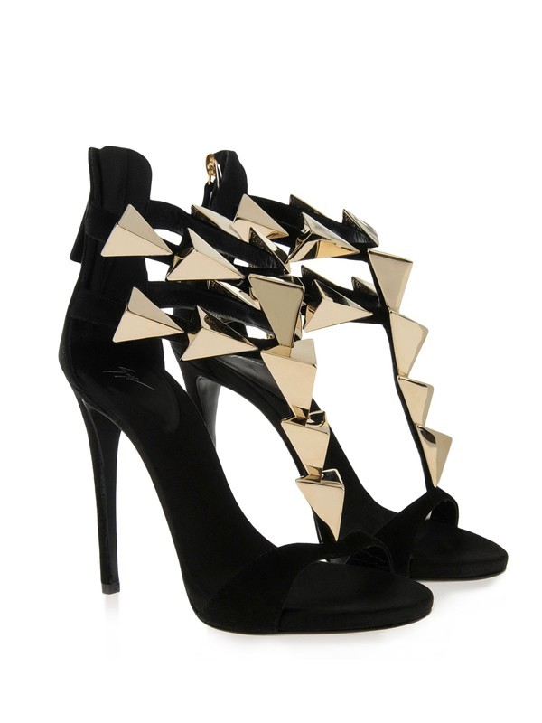 Women's Stiletto Heel Suede Peep Toe Platform With Buckle Sandals Shoes