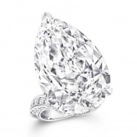 Pear Cut White Sapphire 925 Sterling Silver Engagement Rings