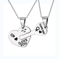 Heart and Key 925 Sterling Silver Necklace