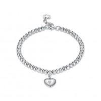 Heart Pendant Elegant S925 Silver Bracelets