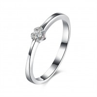 Heart Cut White Sapphire S925 Silver Promise Rings