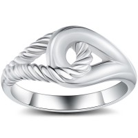 Interlock 925 Sterling Silver Cocktail Ring