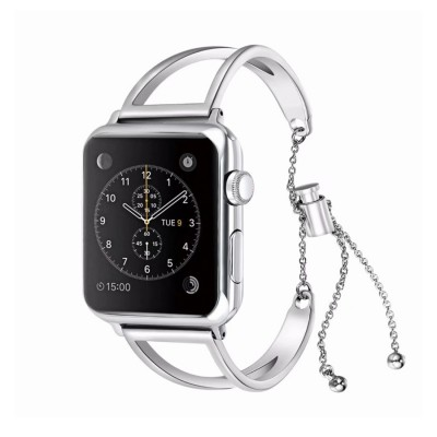 Bangle Bracelet Stainless Steel iWatch Bands Compatible For Apple Watch Series 6/5/4/3/2/1/SE
