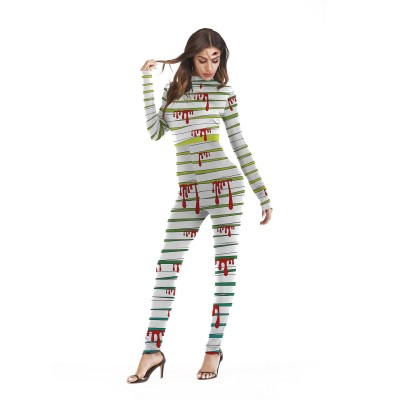 Halloween Role Playing Long Pants Jumpsuit Tights for Women
