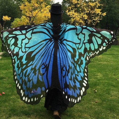 Fashion Colorful Butterfly Wing Cape Scarf Halloween Gift