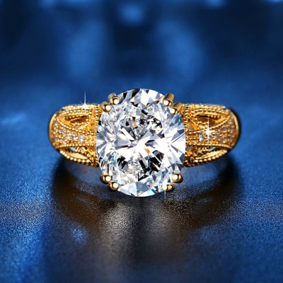 Oval Cut Unique Vintage Engagement Ring