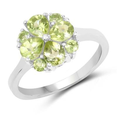 Pear Cut Peridot 925 Sterling Silver Birthstone Rings
